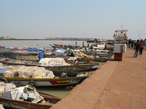 The port of Bissau.