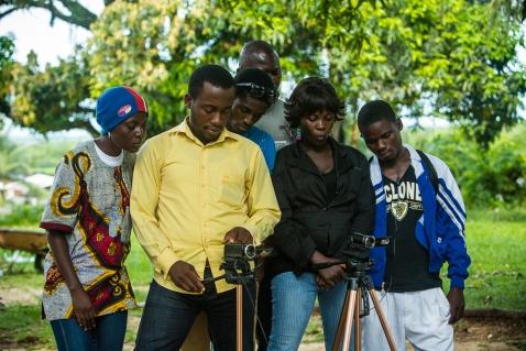Film School Director, Divine-Key Anderson, teaching his class ab