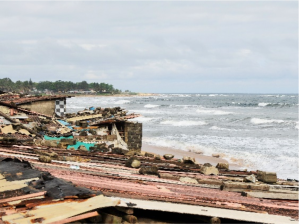 A beach view in Monrovia