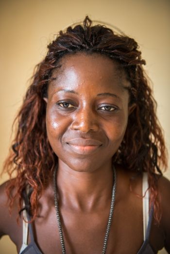 Portrait of Liberian filmmaker and Liberian Film Institute student Dorkas Pewee, born in 1986, age 28. (Photo by Jim Tuttle / Accountability Lab)
