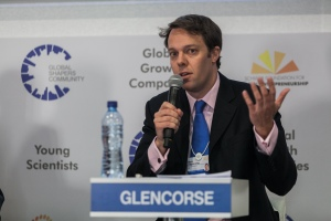 Blair Glencorse, Founder and Executive Director, The Accountability Lab, USA; Global Agenda Council on Transparency & Anti-Corruption at the World Economic Forum on Africa 2015 in Cape Town. Copyright by World Economic Forum / Jakob Polacsek